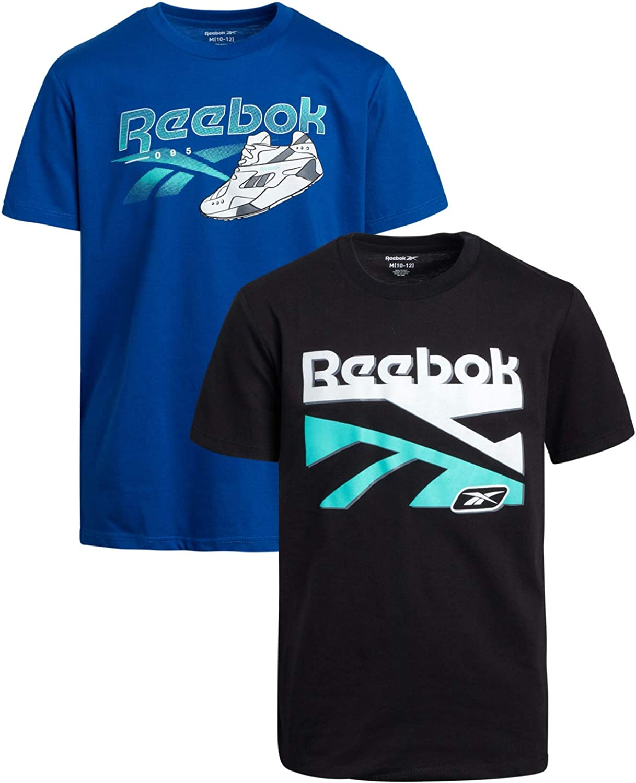 Reebok Boys Short Sleeve Athletic Graphic T-Shirt (2 Pack)