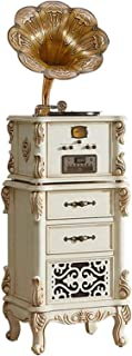 $4641 » DSWHM Exquisite and Elegant Record Players Vinyl Record Player Big Horn Vintage Classical Record Player Decoration Solid W...