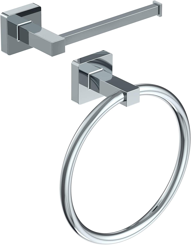 Toilet Paper Over item handling ☆ Holder Hand Towel Piece Hardware Ring Max 56% OFF 2 Bathroom