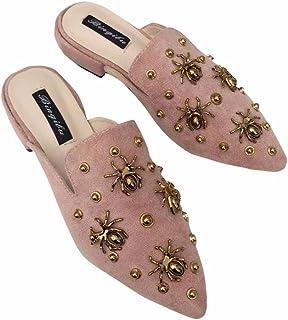 a6c3e68bed9ff4 YUCH Ladies' Chaussons Chaussures Manolo Blahnik Talon Bas Avec Grâce Le  Printemps Et L'