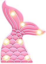 Mermaid Tail Shape LED Night Lamp Children Gift Battery Powered Home Light UK
