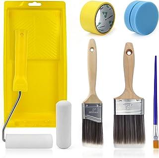 Painting Tool Kits 16PCS Furniture Painting Set Includes Brushes, Sponge Applicator, Foam Roller,...