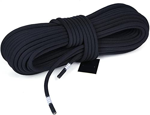 ANHPI Corde Escalade Cordes Statiques Cordes De Sécurité Haute Altitude Cordes InsTailletion à Haute Altitude Cordes De Sauvetage,noir-10m14mm