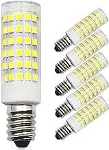Set van 5 E14 LED-lampen, 60 W, 50 W, vervangt halogeenlamp, koud wit, 6 W, 220 V, 230 V, 6000 K, 600 lm, slaapkamer, wand...