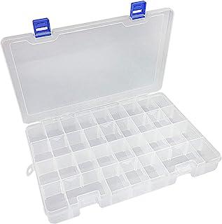 جعبه محفظه پلاستیکی Qualsen با جعبه جداشونده قابل تنظیم جعبه بسته 34Grid 1PC