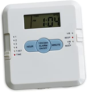 Four Alarm Pill Box Timer and Organizer with Vibration Alert Unconditional Guarantee