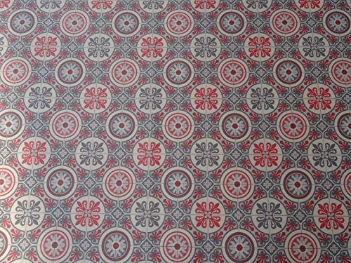 PVC Bodenbelag im Retrolook, graurot (9,95€/m²), Zuschnitt (4m breit, 1,5m lang)