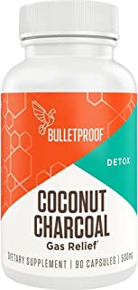 Sponsored Ad - Bulletproof Activated Charcoal, 100% Coconut for Detox, Heartburn and Gas Relief, 90 Capsules