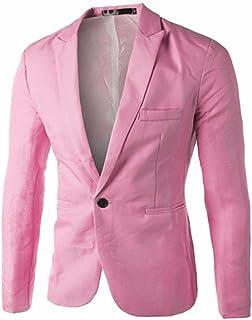 SEWORLD Charm Men's Casual Slim Fit One Button Suit Blazer Coat Jacket Tops Men Fashion