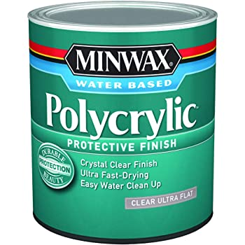 Minwax 611114444 Polycrylic Protective Finish, Quart, Ultra Flat