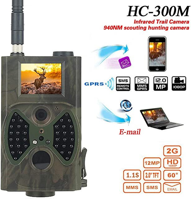 Cámara de Caza Elegante HC300M HD 1080P 12 MP IR Wildlife Scouting CAM visión Nocturna – para ConsumerElectronics