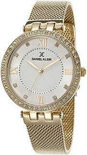 ساعة دانيال كلاين بريميوم خليط معدني بسوار شبكي للسيدات DK.1.12400 2، ذهبي