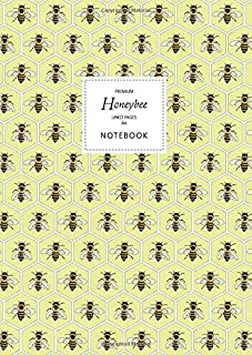 Honeybee Notebook - Lined Pages - A4 - Premium: (Yellow Edition) Fun notebook 192 lined pages (A4 / 8.27x11.69 inches / 21...