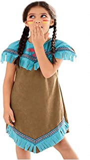 Little Girls Native American Indian Fancy Costume Girls Indian Maiden Costume