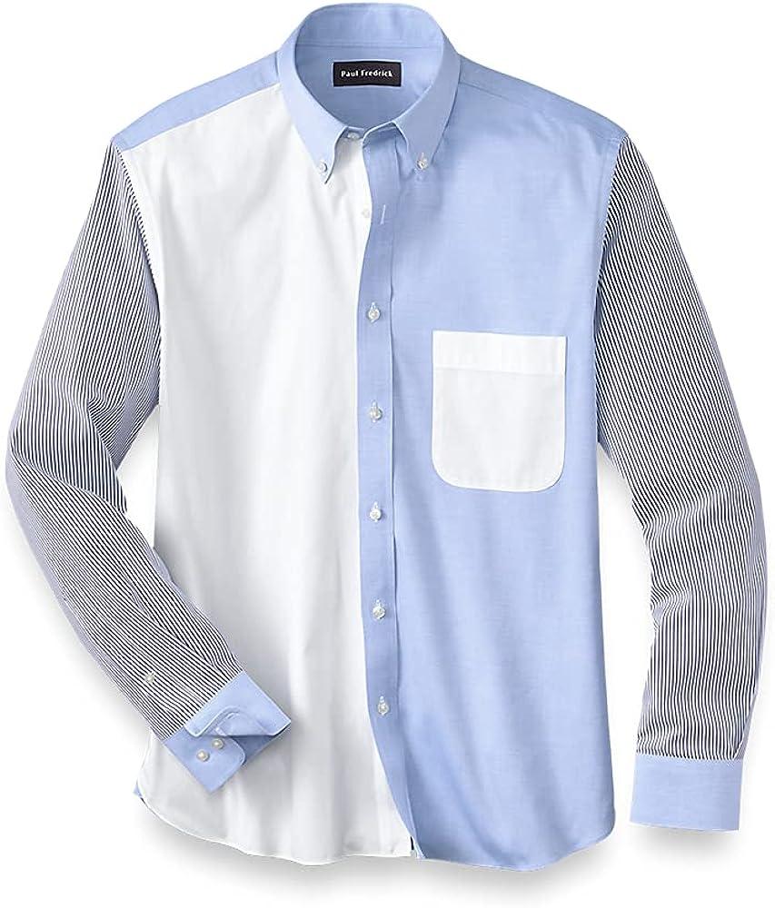 Paul Fredrick Men's Classic Fit Cotton Mix-It Up Casual Shirt