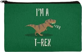I'm A T-Rex Rawr Cute Tyrannosaurus Rex Makeup Cosmetic Bag Organizer Pouch