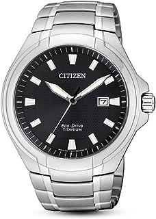CITIZEN 西铁城 男士指针石英手表 钛表带 BM7430-89E