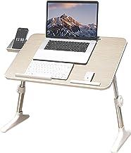 Klaptafel op bed Lui computerbureau Studiebureau Slaapzaal Kleine tafel gebruikt voor bed, vloer, bank, balkon (Kleur: Bei...