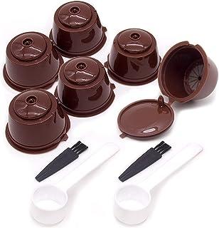 6 Pièces Capsule Filtre de Café Réutilisables pour cafetière Dolce Gusto Capsules Rechargeables à Cafe Compatibles avec 2 ...