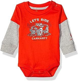 Carhartt Baby Boys Long Sleeve Bodyshirt, Orange, 18M