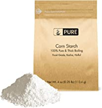 Corn Starch (4 oz.) by Pure Organic Ingredients, Thickener For Sauces, Soup, & Gravy, Highest Quality, Kosher, Food Grade, Vegan, Gluten-Free, Eco-Friendly (Also in 8 oz,1 lb, 2 lb, & 3 lb)