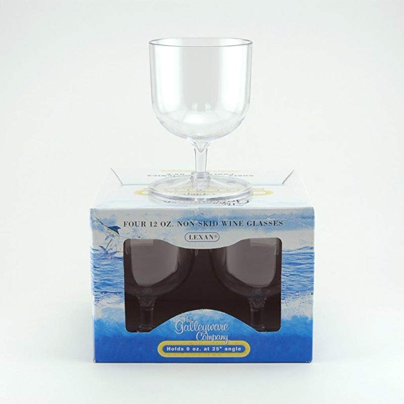 Galleyware Wine Glass Polycarbonate Non Skid Set Of 4 12 Oz