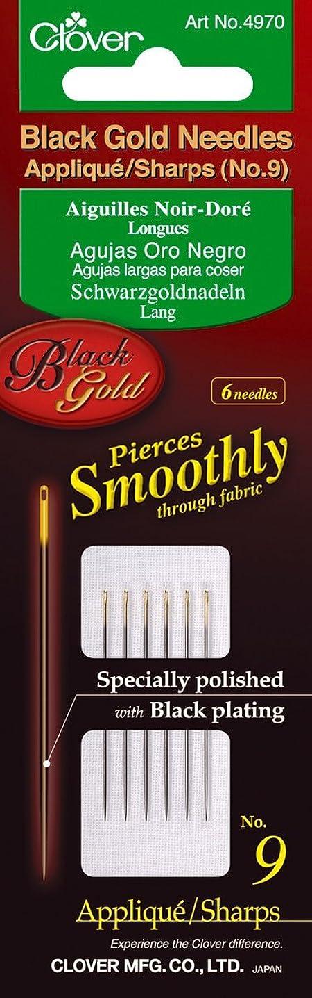 Clover Needles, Applique/Sharps No. 9, Black/Gold