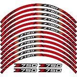 Motos Calcomanías Etiqueta de Motocicleta Pegatina Frente Rueda Trasera Calcomanías Reflectantes Pegatinas Impermeables Stripas de llanta para Z750 Z 750 Pegatinas (Color : 260023)