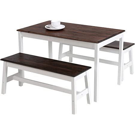 Dining Table Dining Solid Wood Table 180x80 200x80 120x120 cm Pine Brasil White