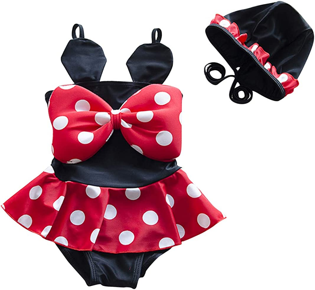 Toddler Baby Girls Swimwear Cute Mini Mouse Bikini Set Swimsuit Beachwear Polka Dots Outfits