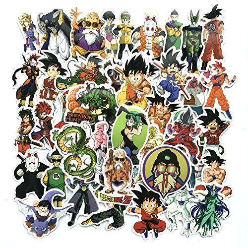 LZWNB Dragon Ball Personalidad Dibujos Animados Anime Equipaje Maleta Pegatina Impermeable Protector...