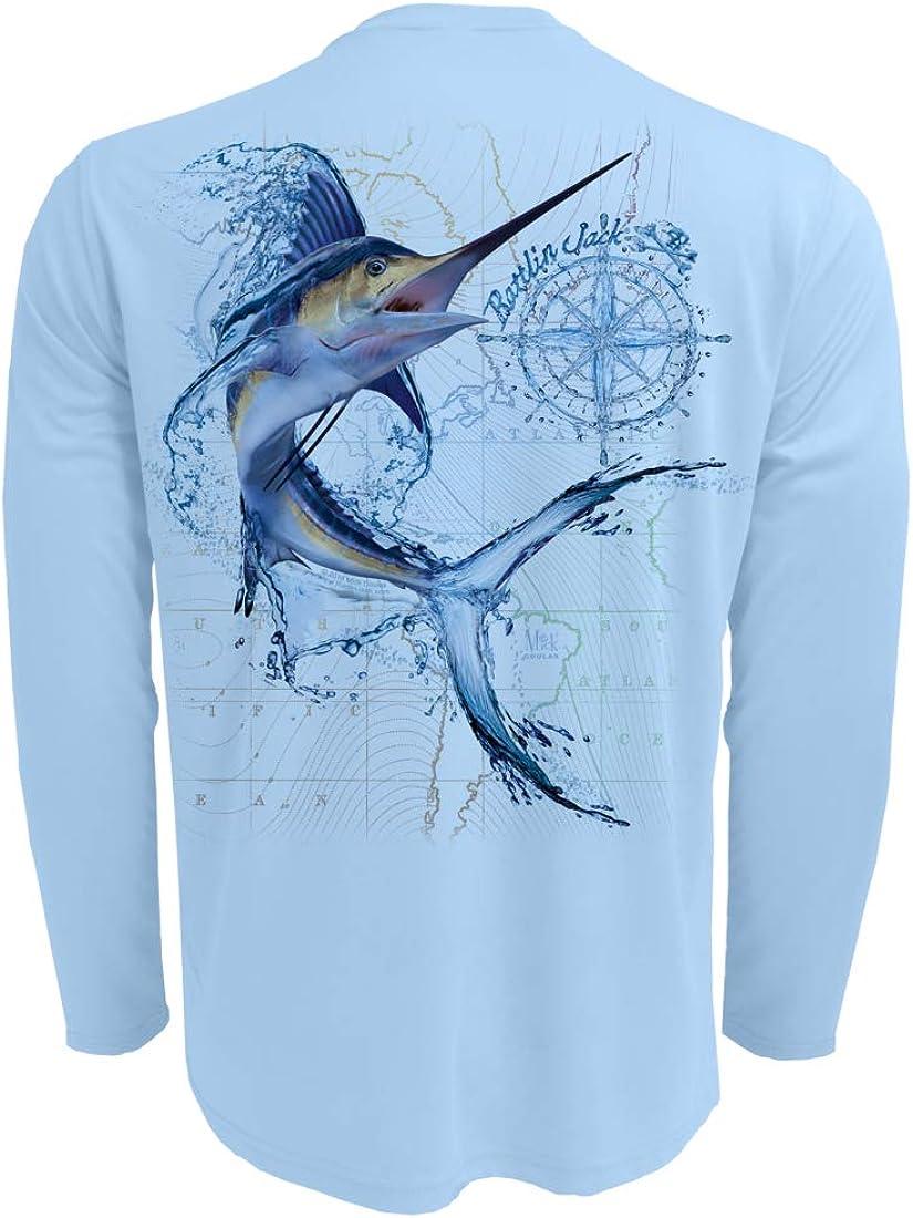 Rattlin Branded goods Jack Men's Marlin Award Sport Protection Fishing Shirt Sun UV