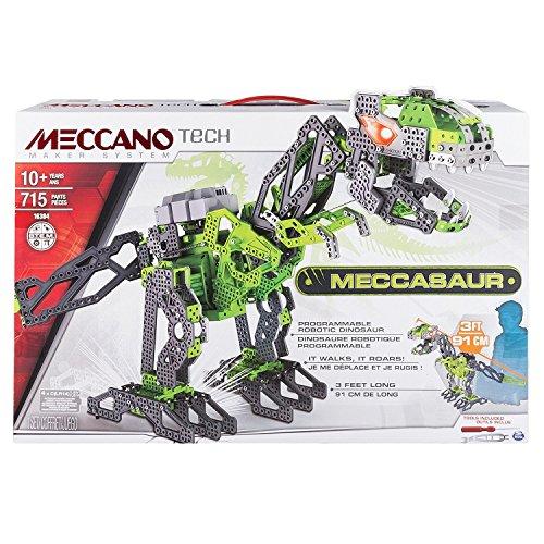 Meccano Tech T-Rex - juegos de construcción (Robot, IR remote, Verde, Gris, Caja)