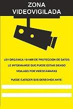 MovilCom® - Adhesivo ZONA VIDEOVIGILADA | CAMARA VIGILANCIA 100x150mm homologado nueva legislación (ref.RD36642)