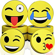 Sohapy 2''x2'' Magnetic Emoji Smiley Circular Whiteboard Dry Eraser, for Kids, School, Teachers, Students, Home, Classroom,Office - Pack of 12