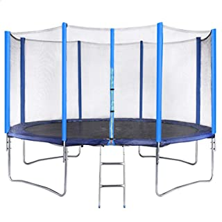 Round Trampoline with Safety Net Fence and Ladder, 365 cm