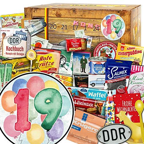 Geschenke zum 19 - Weihnachtskalender DDR - Adventskalender Süßigkeiten