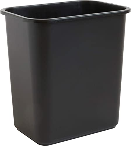 United Solutions 7 Gallon / 28 Quart Efficient Trash Wastebasket, Fits Under Desk, Small, Narrow Spaces in Commercial...