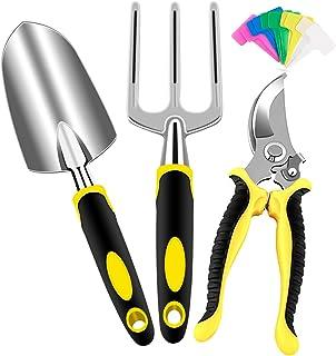 AGAKY Kit Herramientas Jardineria, 3 Pcs Herramientas de Jardín de Aluminio, Juego Herramientas Jardin con Podadora, Palet...