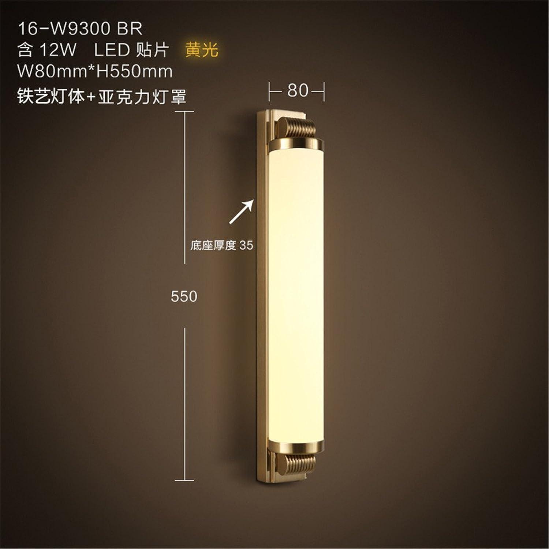 StiefelU LED Wandleuchte nach oben und unten Wandleuchten Hotel Schlafzimmer led Glas vorne Licht Eisen Hyun gateway Korridor Treppe Wandleuchten, 80 mm  550 mm