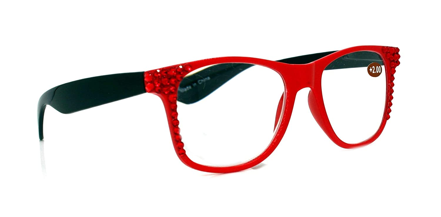 The Hipster Retro Square Bling online shopping Fixed price for sale Adorned Glasses wi Reading Women