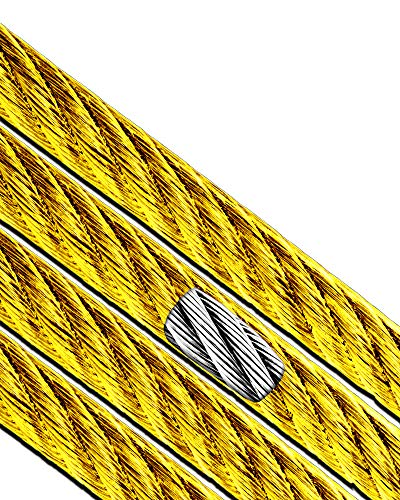"""Cable Wire Picture Hanging Kit Frames Picture Hangers Picture Hanging Wire Craft Wire for Large Picture Frames Vinyl Cable Yellow 1/8"""" - 3/16"""" (7x7) (250 Ft) Super-Deals-Shop"""