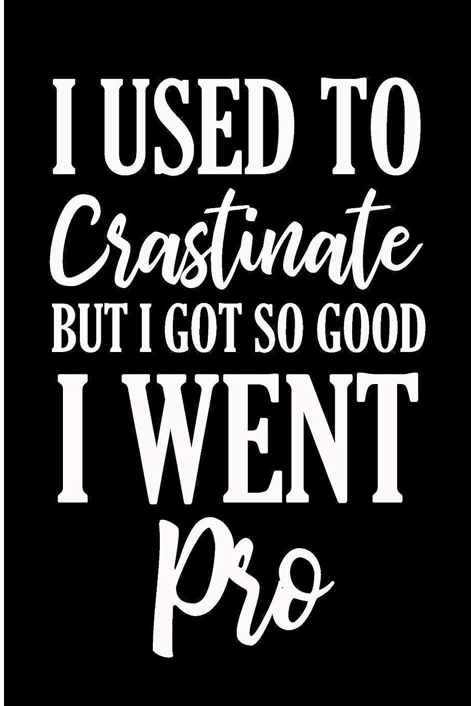ポジションお酒童謡I Used To Crastinate But I Got So Good I Went Pro: Funny Procrastinator Blank Lined Note Book