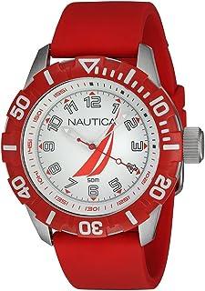 Nautica nsr-100 j-class Mens Analog Quartz Watch with Rubber bracelet NAI08506G
