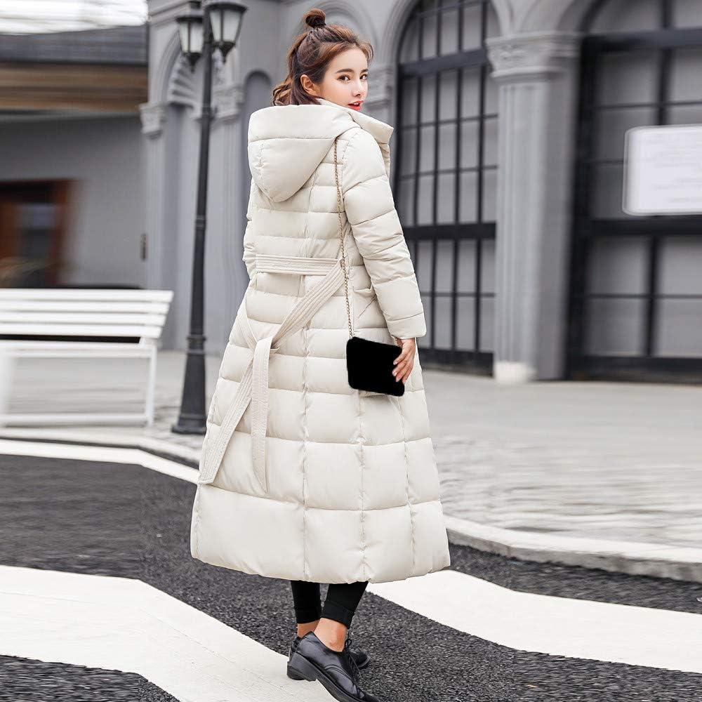 JERFER Baumwolle Gepolstert Mantel Damen Freizeitmode Winter Warme Oberbekleidung Pelz Tasche Kapuzenjacken Weiß