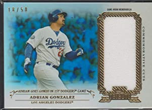 2013 Topps Tribute Adrian Gonzalez Dodgers 18/50 Game Used Jersey Baseball Card #CC-AG