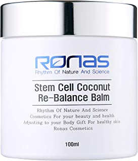 Ronas Stem Cell Coconut Rebalance Balm.Advanced Anti Aging Formula.Dermatologists Approved and Recommended as Best Anti Aging Solution.Plant Stem Cells Rejuvenate Skin.Korean Esthetician's Cosmetics