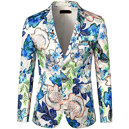 JoKim Men's Luxury Casual Dress Floral Suit Notched Lapel...