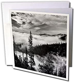 3dRose Washington State, Olympic National Park. View, Hurricane Ridge Road - Greeting Cards, 6