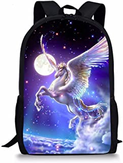 DeePrint Dinosaur 17 Inch Backpack School Bags Book Bags Lightweight Durable Daypack for Kids Girls (
